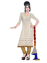 Zeel Fashion Women's Georgette Unstitched Dress Material (zf10_Golden_Free Size)
