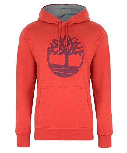 Timberland -  Felpa con cappuccio  - Maniche lunghe - Uomo rosso Small
