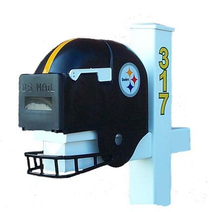 Steelers mailbox pittsburgh steelers mailbox steelers for Car mailboxes for sale