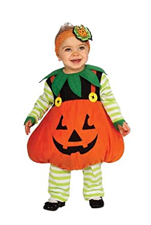 Rubie's Costume Cute Pumpkin Ez-On Romper Costume, Orange, Infant