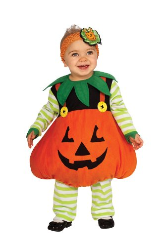 Rubie's Costume Cute Pumpkin Ez-On Romper Costume, Orange, Toddler image
