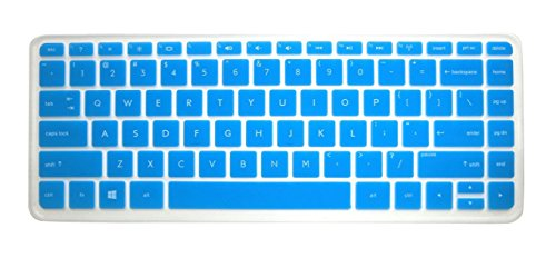 Blue Translucent Ultra Thin Soft Silicone Keyboard Protector Skin Cover For Hp Split X2 13 13-A*** 13-M*** 13-G*** 13-P*** Pavilion Envy 14-K*** 14-F*** 14-E*** 14-N*** 14-V*** Series, Such As 13-A010Nr 13-A010Dx 13-A012Dx 13-M110Dx 13-M010Dx 13-M210Dx 13