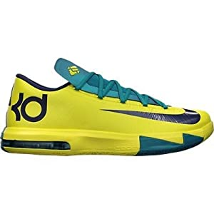 Nike KD VI Color Sonic Yellow / Tropical Teal / Midnight Navy 599424-700 (SIZE: 11.5)