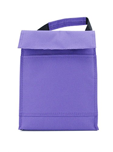 Colorful Velcro Lunch Pack/ Lunch Cooler/ Cooler Tote Bag (Purple)