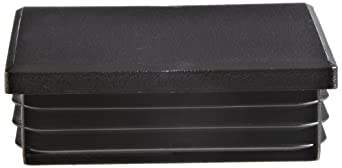 Kapsto 260 Q 6060 1.5 - 2 Polyethylene Square Plug, Black, 60 mm (Pack of 100)