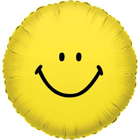 "Mylar Balloon 18"" Single Sided-Smiley Face - 1"