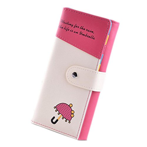 kingkor-womens-wallet-leisure-long-ladies-purse-clip-pocket-card-cases-hot-pink