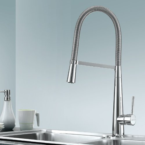 BEIYI 13.04.06 Artemis Luxury Brushed Kitchen Sink Mixer Tap Faucet with Movable Front