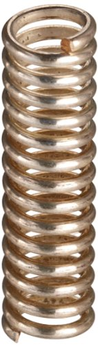 """Silver-Coated Beryllium Copper Compression Spring .228"""" Od X .036"""" Wire Size X 0.860"""" Free Length"""