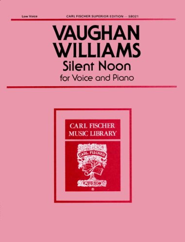 Silent Noon (Low Voice, in Db) Vocal Solo (Silent Noon Sheet Music compare prices)