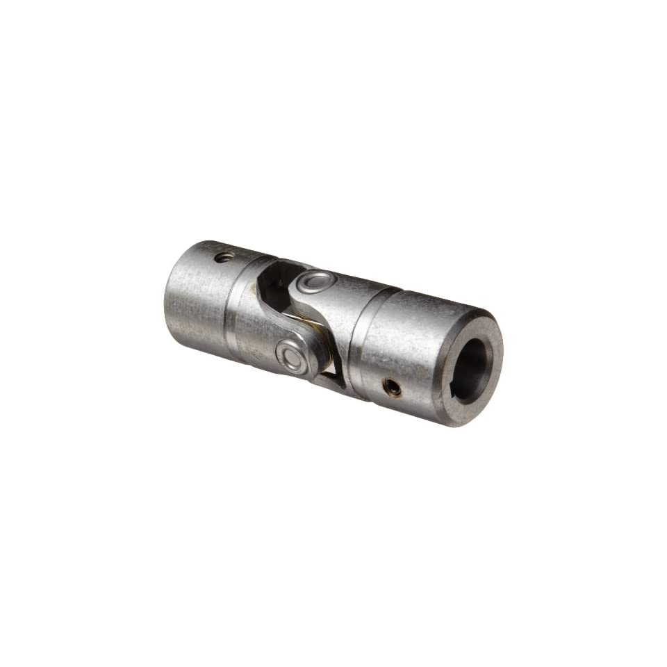 Lovejoy Size NB10B Needle Bearing Universal Joint, 3/4 Round Bore and 3/4 Round Bore, 3/16 x 3/32 Keyways with Setscrew, 1.50 Outer Diameter, 4.25 Overall Length