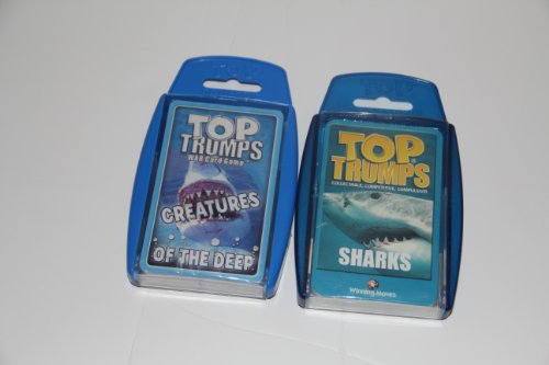 New Top Trumps card game - Sea 2 Pack with Creatures of the Deep and Sharks (Top Trumps Sharks compare prices)