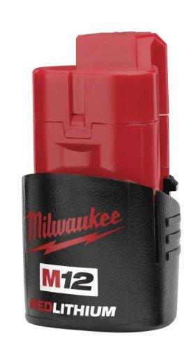 Milwaukee 48-11-2401 M12 RED LITHIUM 12-Volt Lithium-ion Cordless Tool Battery (Milwaukee Cordless Drill Battery compare prices)