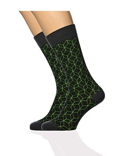 ISOK 2tlg. Set Socken N° 063Xc braun