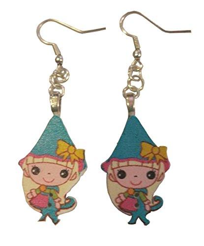 Anime Elf Blue Dangle Earrings ()