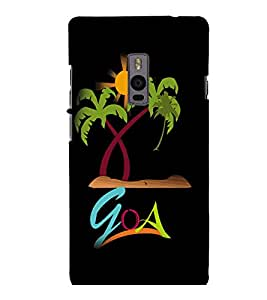 printtech Goa Beach Back Case Cover for One Plus Two ::One Plus2