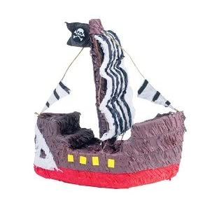 Click to buy Pirate Birthday Party Ideas: Pirate Ship Pinata from Amazon!