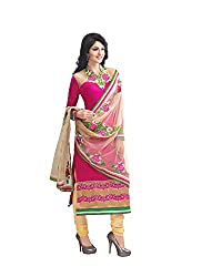 Vivel's Women's Georgette Unstitched Dress Material(Multi_Free Size)