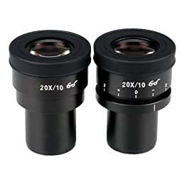 AmScope EP20X30F Pair of Focusable Extreme Widefield 20X Eyepieces (30mm)