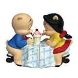 Westland Giftware Looney Tunes Magnetic Porky Pig and Petunia Salt and Pepper Shaker Set, 3-1/4-Inch