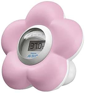 Philips Avent - Thermometre bébé de bain et chambre Rose