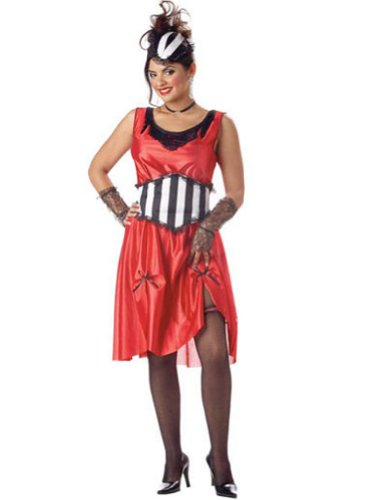 Saloon Girl Adult Md Halloween Costume - Adult Medium