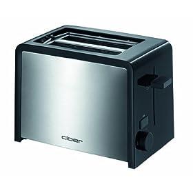 Cloer 3210 tostapane in acciaio inox colore nero for Prezzi tostapane