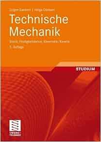 Technische mechanik statik festigkeitslehre kinematik for Technische mechanik lernvideos