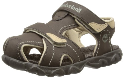 Timberland Boys Splashtown Closed Toe Fashion Sandals C78X7R Brown/Tan 5 UK Child, 22 EU
