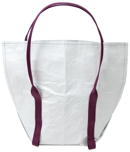 Mimot Reusable Lunch Bag, Gray with Burgundy Straps - 1