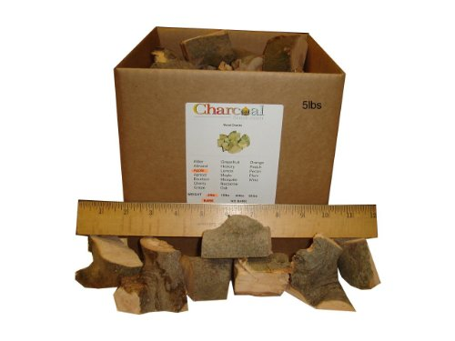 Charcoalstore Sampler Fruit Wood Smoking Chunks 20 Pounds With 5 Pounds Each Of Apple, Apricot, Peach And Nectarine