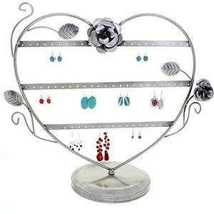 Présentoir ou Porte bijoux pour 30 paires de boucles d'oreilles coeur