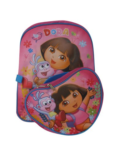 """Nickelodean Junior 15"""" Dora The Explorer & Boots Backpack With Detachable Lunch Box front-1026100"""