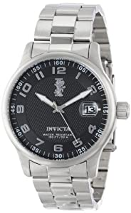 Invicta Men's 15258 I-Force Black Textured Dial Stainless Steel Watch