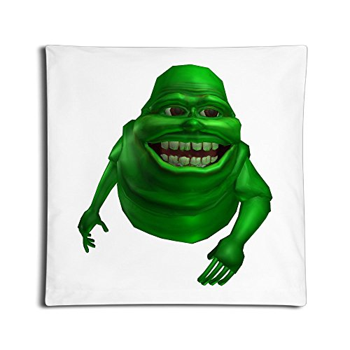 [LBGN Cute Slimer Happy Throw Pillow Covers One Side 18 Inches Square] (Cute Slimer Costumes)