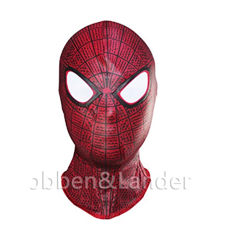 [4 Style The Amazing Spider Man Balaclava Hood Cosplay Halloween Full Face Mask (S1)] (Full Face Gas Mask Costume)