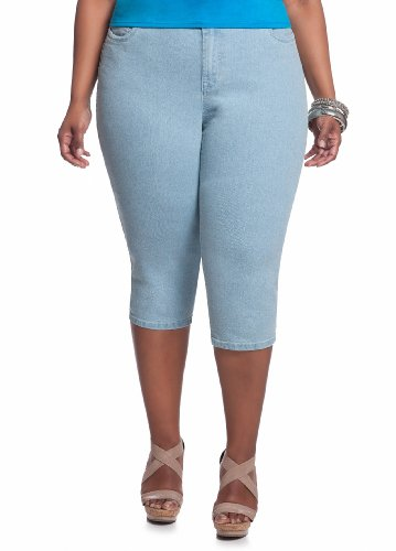 Ashley Stewart Women's Plus Size Light Wash Denim