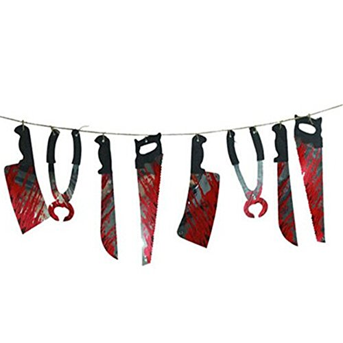 Giveme5 Halloween Bloody Weapons Garland