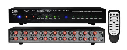 OSD Audio ATM-7 Digital 7-Zone Dual Source Speaker Selector with Remote Control