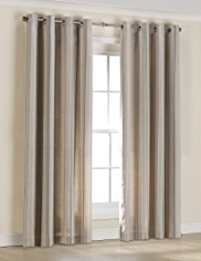 Eyelet Striped Curtains