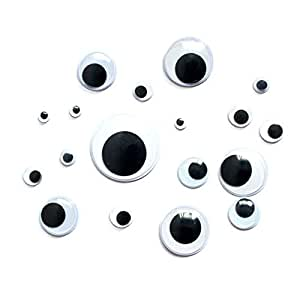 Novelty self adhisive small and large googly for Large googly eyes crafts