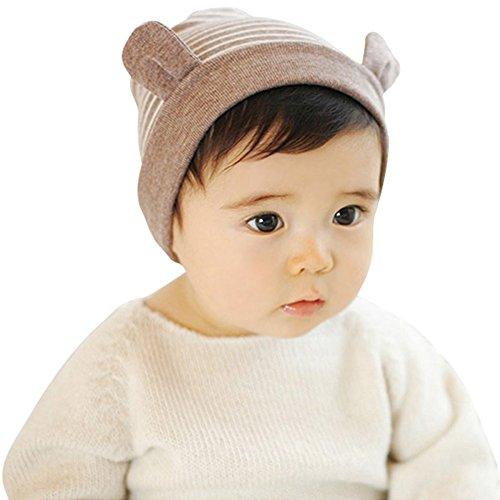 Urparcel Newborn Baby Little Ears Striped Baby Beanie Infants Warm Hat Caps