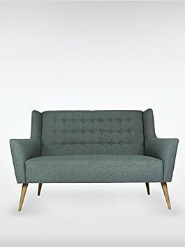 2-Sitzer Vintage Sofa | Couch-Garnitur Westhampton dunkelgrau | 150 x 73 x 95 | roomeo24®
