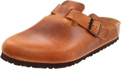 Birkenstock Boston Leather Clog,Antique Brown,36 N EU