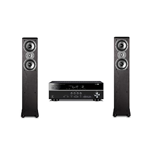 """Polk Audio TSi300 3-Way Tower Speakers with Two 5-1//4/"""" Drivers Pair Black"""