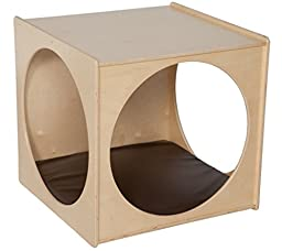 Natural Environments C29029BN Giant Crawl Thru Play Cube (Imagination Cube) w/Brown Cushion