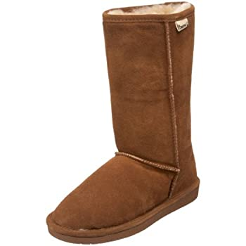 This classic Bearpaw boot features a sheepskin footbed and luxurious shearling lining, making winter months soft, warm, and stylish.