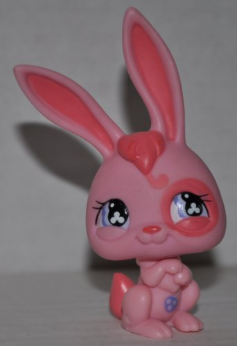 Rabbit #500 (Pink, Purple Eyes) - Littlest Pet Shop (Retired) Collector Toy - LPS Collectible Replacement Figure - Loose (OOP Out of Package & Print) - 1