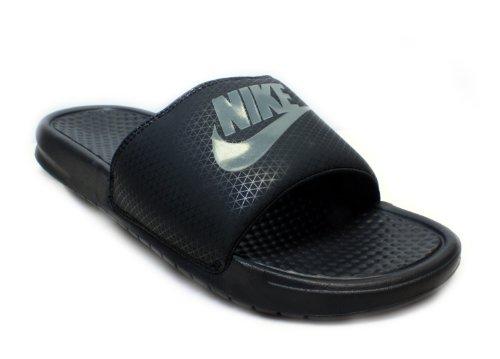 Cheap Nike Mens Benassi JDI Sandal Slide Black/Midnight Fog (B006VGRQRC)