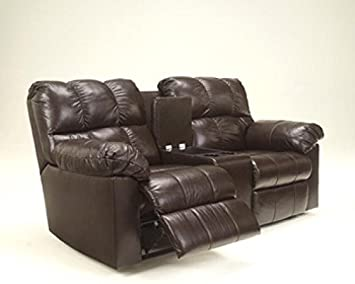 Kennard Chocolate DBL Rec Loveseat w/Console
